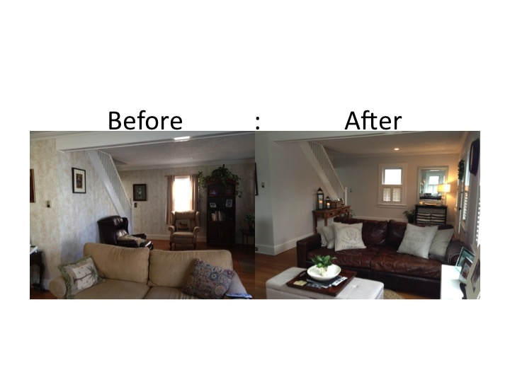 Living Room Make Over Maxwell Leather Sofa And Belgian