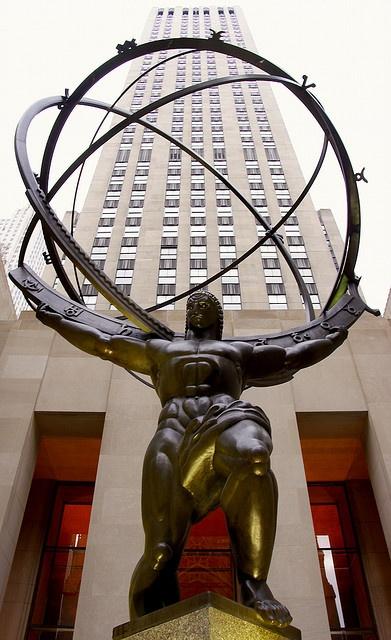 Atlas Ave Rockefeller Plaza New York City #newyork, #NYC, #pinsland, https://apps.facebook.com/yangutu