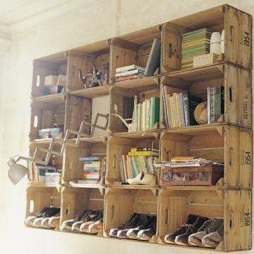 Casiers Vintage bois à bouteilles - idées
