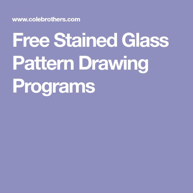 Free Stained Glass Pattern Drawing Programs