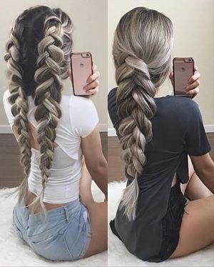 two pancaked braids #braidedhairstyles
