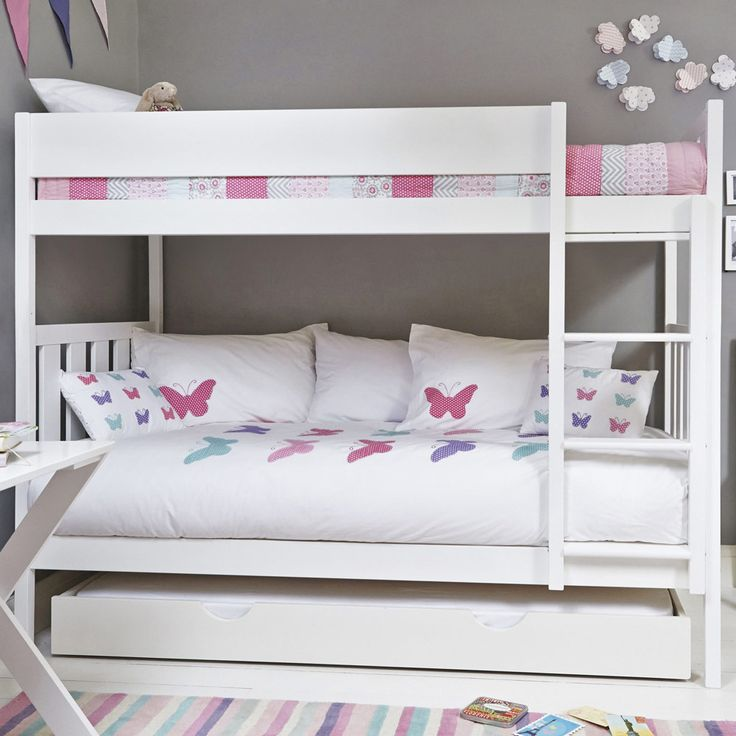 Bright White Darwin Bunk Bed - Bunk Beds - Beds & Mattresses