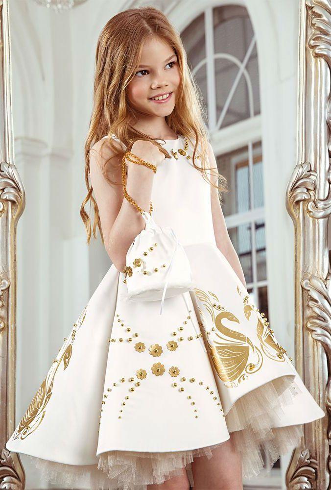 5c28ad828 Gorgeous girls dress by JUNONA. Girls White Swan Dress   Bag ...