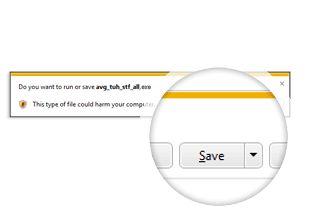 Diálogo de paso 1 de la instalación de PC TuneUp con botón guardar