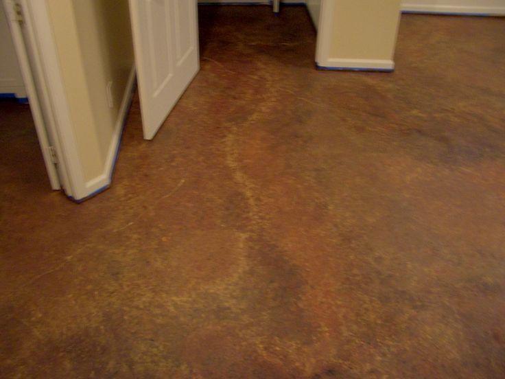 Painting Basement Floor for Creating Light Atmosphere Around: Painting Basement Floor Brown Stone Pattern Floor ~ dickoatts.com Floors Inspiration