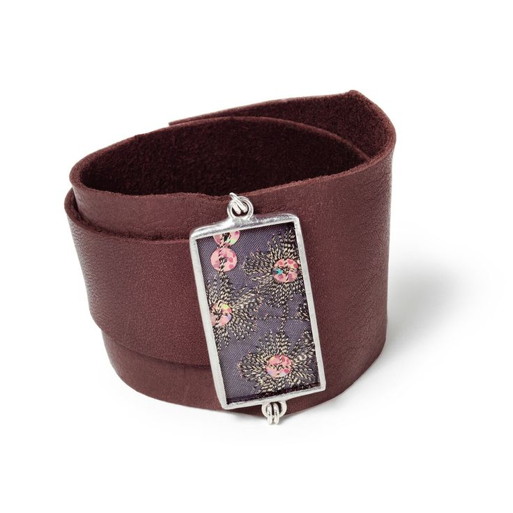 Sequins on silk paired with a soft wrap around leather cuff. Scrumptious!