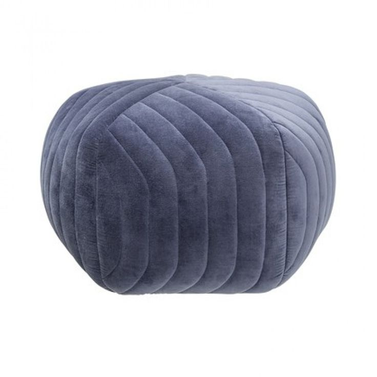 Designstuff offers a range of Scandinavian furniture including this contemporary hope blue velvet pouf ottoman by Danish brand Bloomingville. Shop online now!