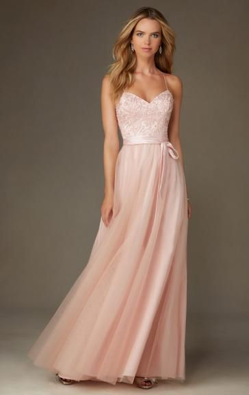 Sale Light Pink Bridesmaid Dress BNNCL0008-Bridesmaid UK