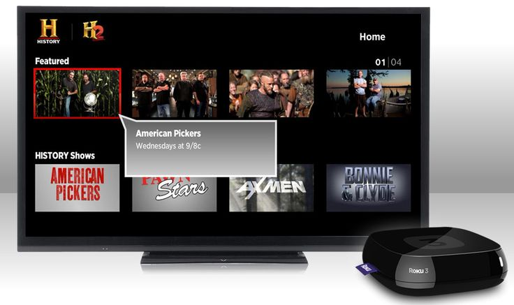 HISTORY App now available on Roku. Perfect complment to www.watchtveverywhere with Horizon Cable.
