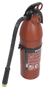 Fire extinguishers are divided into four categories, based on different types of fires. Each fire extinguisher also has a numerical rating that serves as a guide for the amount of fire the extinguisher can handle. The higher the number, the more fire-fighting power.