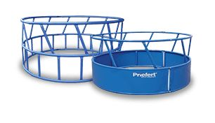 Priefert offers a variety of round bale feeders, including feeders with a powder-coated finish, designed to fit the needs of today's cattle producers.