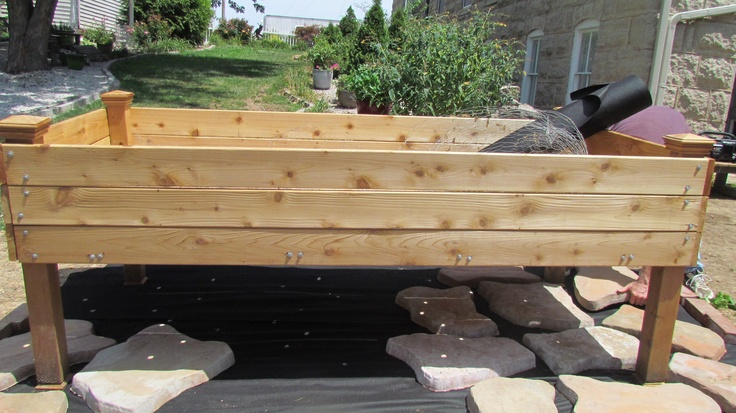 Beau This Is The Free Standing Garden Bed That My Husband Built. I Plan To Grow