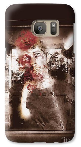 Phone Box Zombie Galaxy S7 Case featuring the photograph Help. Itchy Ugly Face So I Ate Him. Mmmm Tasty by Jorgo Photography - Wall Art Gallery
