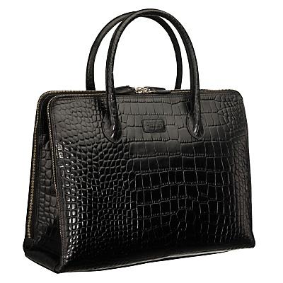 Osprey London The Correspondent Croc Tote Handbag