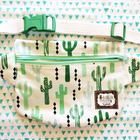 Fanny Pack  cactus  free shipping by HustleMama on Etsy