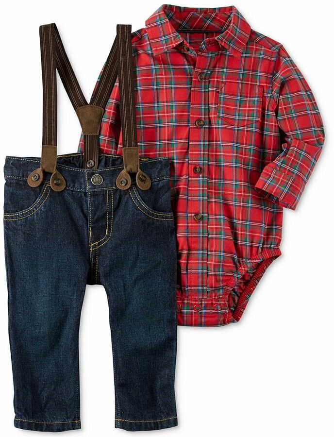 Super cute little boys flannel outfit! #lumberjackbirthday #boysclothes#lumberjack #affiliate