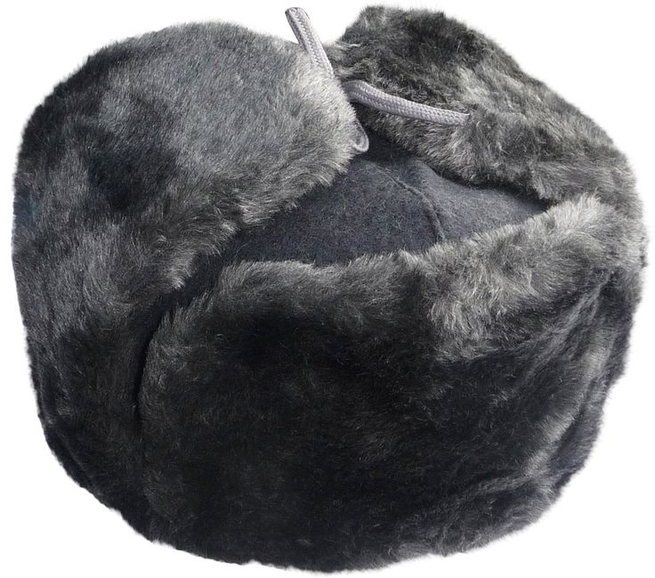 Faux Fur Ushanka Russian Winter Hat. Gray, with Soviet soldier insignia at Amazon Men's Clothing store: