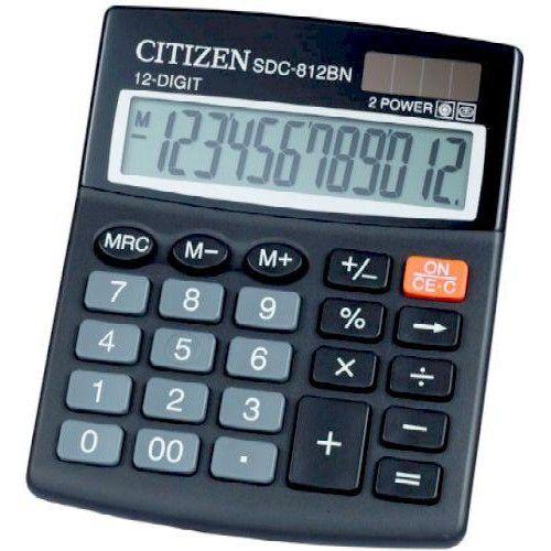 Asztali számológép 12 számjegyes, döntött kijelzővel Citizen SDC-812BN - Számológépek Ft Ár 1,990