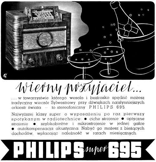 Radioodbiornik PHILIPS Super 695 - 1937 rok