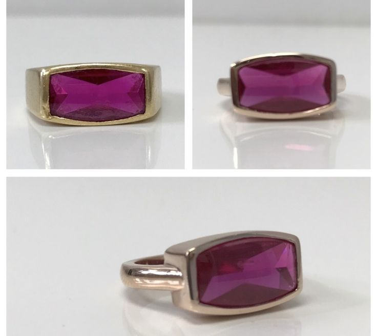 A modern rose gold update for this beautiful ruby from her Dad. #oldtonew #ruby