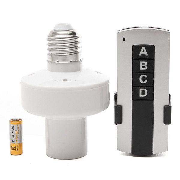 E27 Screw Wireless Remote Control Lamp Bulb Holder Cap Socket Switch Lamp Bulb Light Accessories Remote Control Light