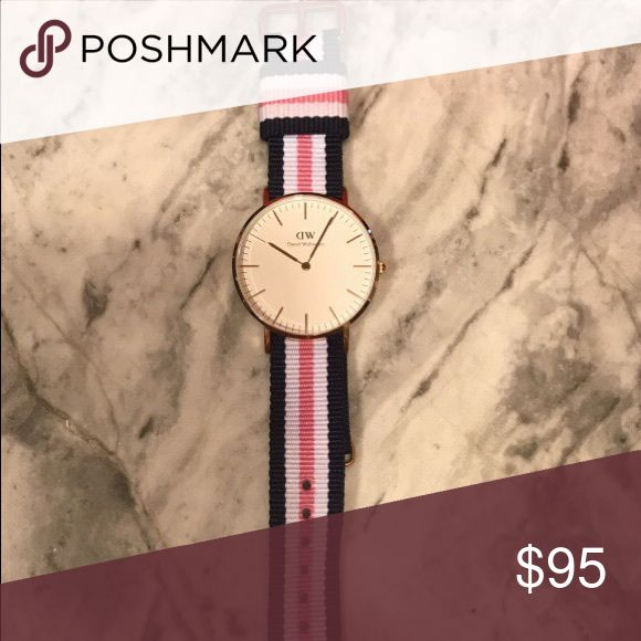 Brand new Daniel Wellington Watch This is a brand new women's Daniel Wellington watch that has never been worn. It comes with original box. No scratched or stains. Willing to negotiate but this watch retails at $175 so I feel my price is fair. Daniel Wellington Accessories Watches
