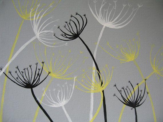 Dandelion Painting Custom Artwork - You choose the colors!