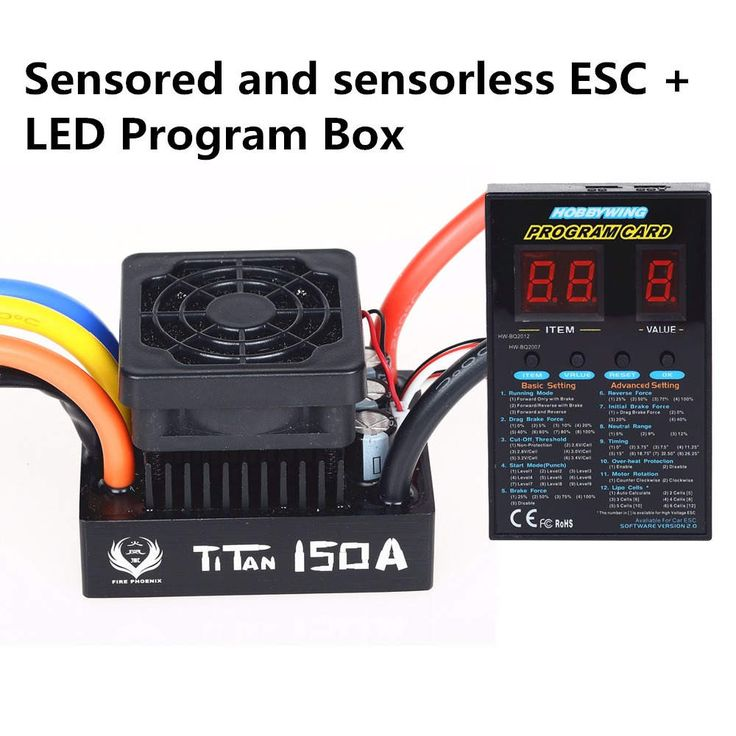 TiTan 150A Waterproof Brushless Speed Controller ESC for For RC 1/5 1/8 Traxxas E-REVO Traxxas Summit HPI Savage Thunder Tiger