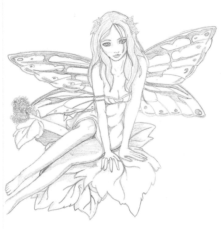 earth fairy coloring pages - photo#6