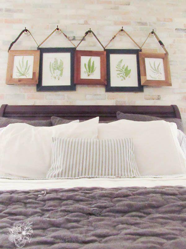 Romantic Industrial Master Bedroom.  Love love this!