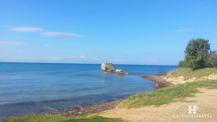 #Nea #Potidaia #beach in #Halkidiki. Visit www.halkidikitravel.com for more info. #HalkidikiTravel #travel #Greece