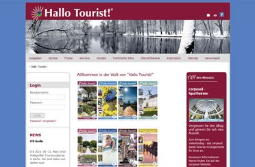 Webseite Hallo Tourist!