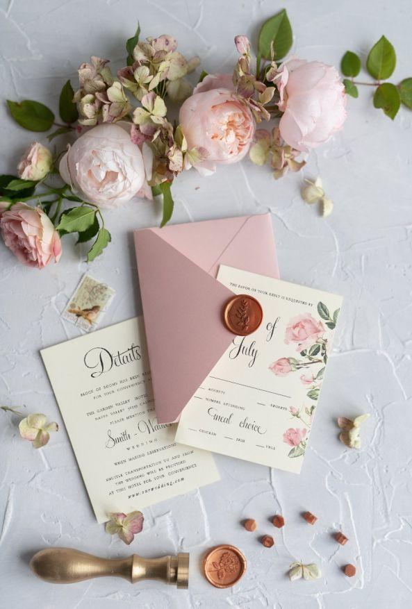 Elegant Personalized Wedding Invitations Garden Roses Stationery With Vintage Illustration 2 Greenpi Z Fun Wedding Invitations Chic Wedding Invitations Wedding Invitations