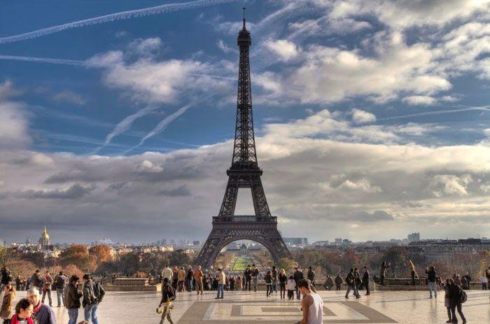 View of beautiful Paris ....