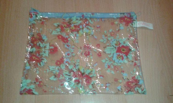 Cath Kidson Clear Plastic Sleeve Bag / Travel / Makeup Bag ~~~LOOK!!!~~~