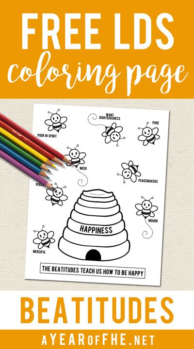 Free Beatitudes Coloring Page To Use For Primary