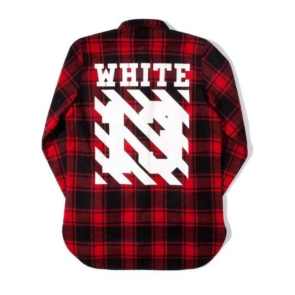 da1316cfe74b Pyrex X Off-White Red Wool Flannel (520 CAD) ❤ liked on Polyvore featuring  pyrex