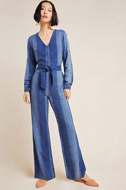 Cloth & Stone Laney Chambray Jumpsuit 1