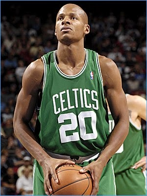 Ray Allen! I know he's going to be retiring soon. he's so entertaining, it will be disappointing when he does retire.