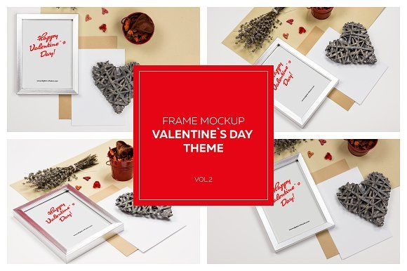 Frame Mockup VOL.2 - Valentine`s Day by DIGITAL INFUSION on @creativemarket