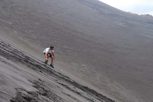 Sandboard in a dune