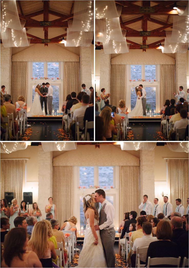 wedding reception minnetonkmn%0A Indoor Ceremony Lakeview Room   Vintage Villas   Ashley D Photography