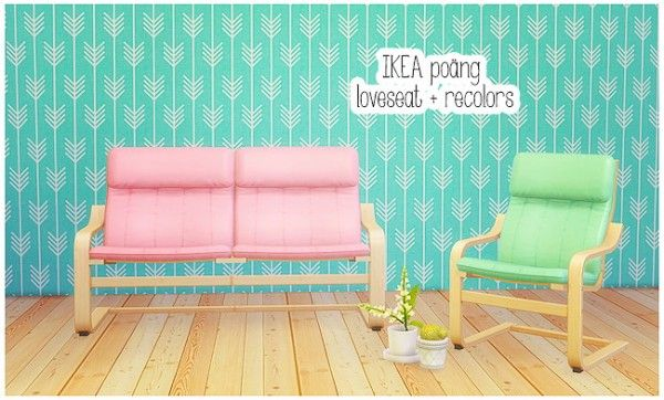 Furniture: IKEA loveseat + armchair recolors from LinaCherie • Sims 4 Downloads