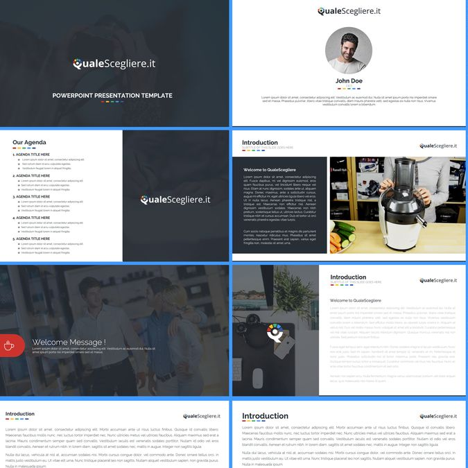 Create a powerpoint template following our website look and feel! by Bagacian…