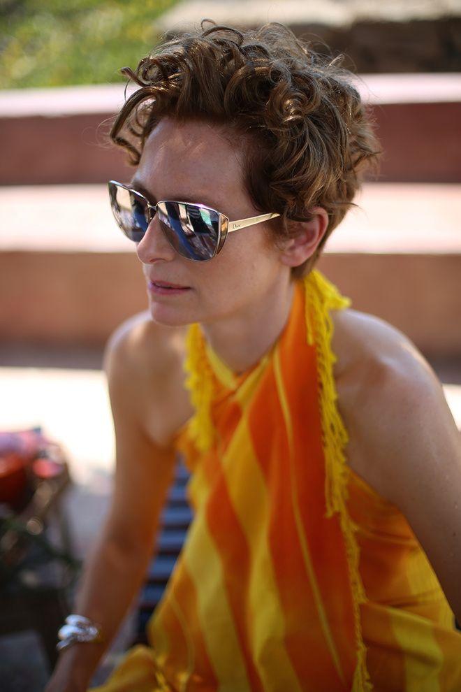 Tilda Swinton en lunettes de soleil DiorFuturist spécialement conçue pour le film