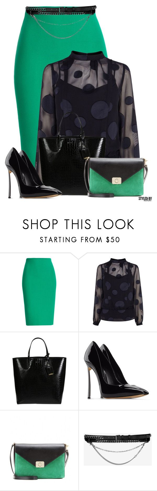 """""""Monday In The Office"""" by marion-fashionista-diva-miller ❤ liked on Polyvore featuring Roland Mouret, Karen Millen, Jil Sander, Casadei, Barbara Bui, WorkWear, officewear, businessattire and powerlook"""