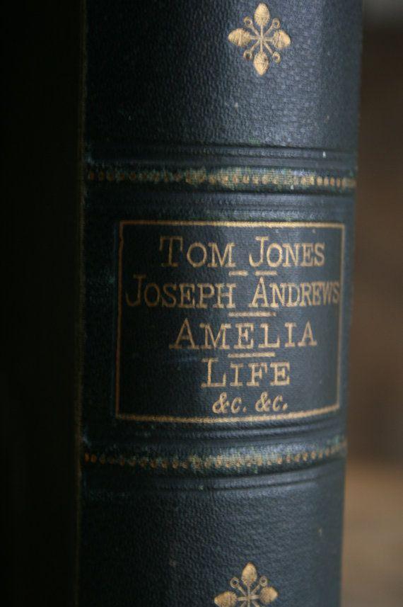 1800's Antique Victorian Book Tom Jones Henry by junkshopUK