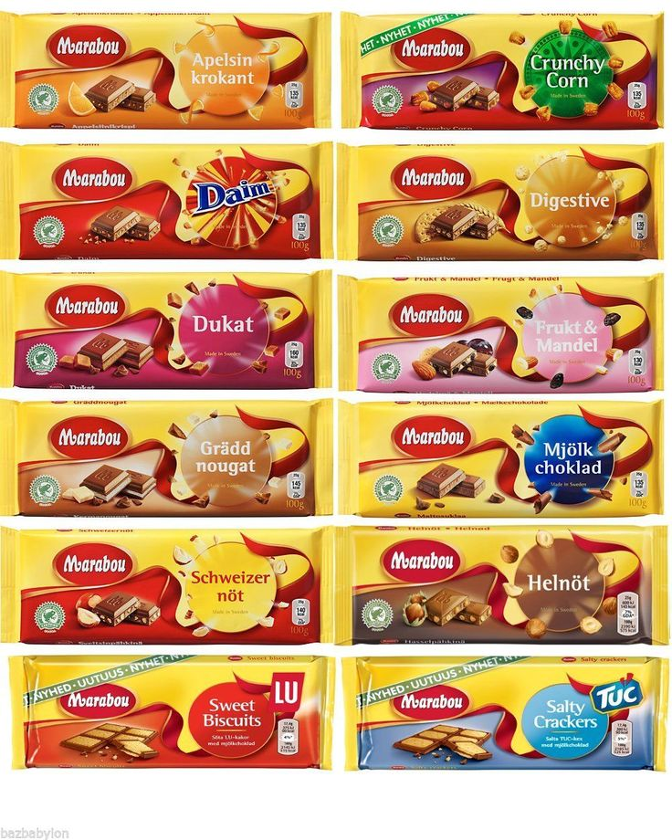 Marabou - All Chocolate Bars, 100g - Made in Sweden