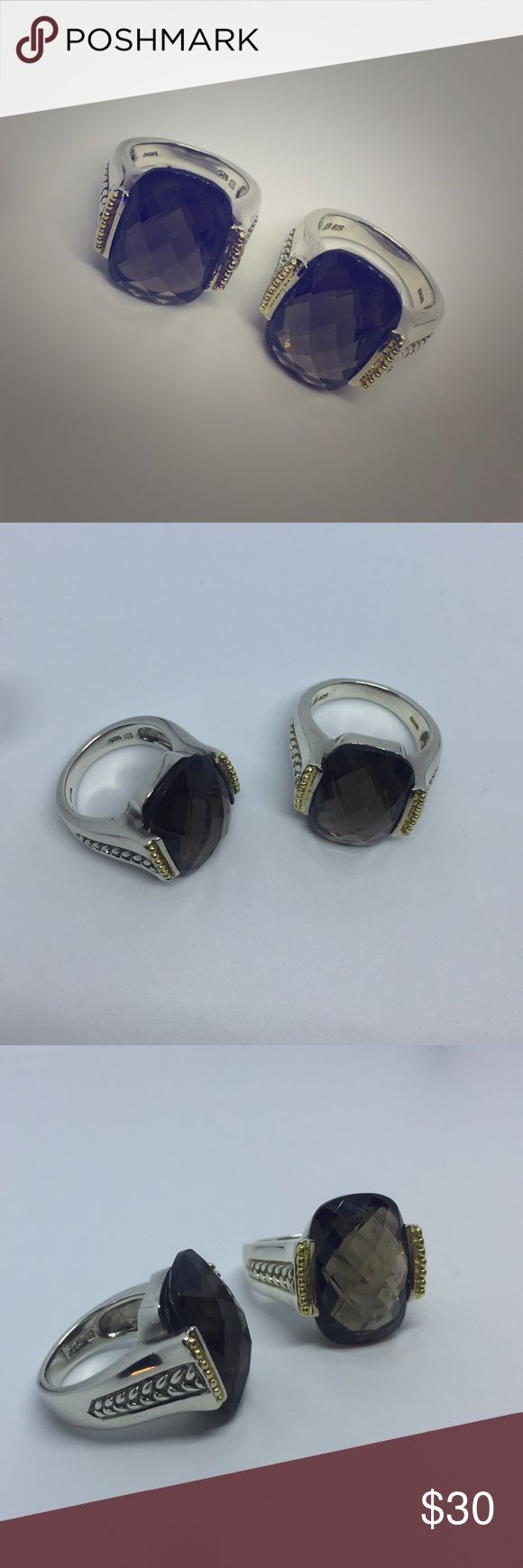 smoky topaz sterling ring size 7 and size 9 available Jewelry Rings