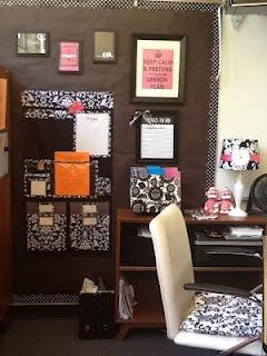 Super Cute-I would do different colors though -Teacher desk area
